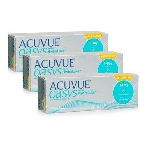 Acuvue Oasys 1-Day with HydraLuxe for Astigmatism (90 čoček) Acuvue Jednodenní čočky torické silikon-hydrogelové pro sport