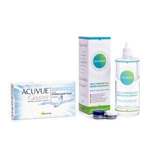 Acuvue Oasys for Astigmatism (6 čoček) + Solunate Multi-Purpose 400 ml s pouzdrem Acuvue 2 týdenní čočky torické silikon-hydrogelové balíčky