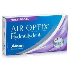 Air Optix Plus Hydraglyde Multifocal (6 čoček) Air Optix Měsíční čočky silikon-hydrogelové multifokální