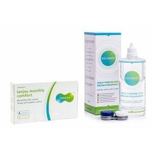 Lenjoy Monthly Comfort (6 čoček) + Solunate Multi-Purpose 400 ml s pouzdrem Lenjoy kontaktní čočky Měsíční čočky balíčky