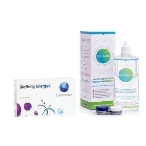 Biofinity Energys (6 čoček) + Solunate Multi-Purpose 400 ml s pouzdrem Biofinity Kontinuální čočky silikon-hydrogelové balíčky