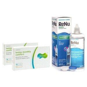 Lenjoy Monthly Comfort (12 čoček) + ReNu MultiPlus 360 ml s pouzdrem Lenjoy kontaktní čočky Měsíční čočky balíčky