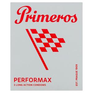Primeros Performax kondomy pro dlouhotrvající vzrušení, 3 ks