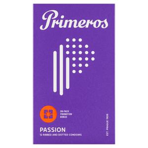 Primeros Passion kondomy s vroubky a výčnělky, 12 ks