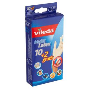 Vileda Jednorázové rukavice z latexu bez pudru uvnitř M/L 7,5-8,5 10+2 ks