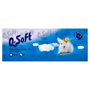 Q-Soft Papírové kapesníčky 4-vrstvé 10 x 10 ks