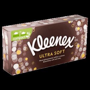 Kleenex Ultra Soft papírové kapesníky 3-vrstvé 80 ks