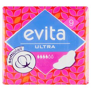Evita Ultra softiplait Hygienické vložky s křidélky á 9 ks