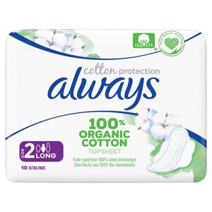 Always Cotton Protection Ultra Long (Velikost 2) Vložky S Křidélky 10ks