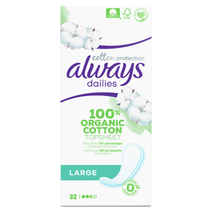 Always Dailies Cotton Protection Intimky Large 32 ks