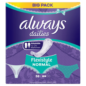 Always Dailies Fresh & Protect Flexistyle Normal Intimky 58 ks