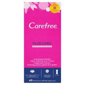 Carefree Plus Long slipové vložky svěží vůně 40 ks
