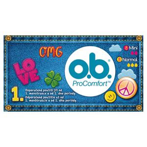 O.B. ProComfort Tampony Mini + Normal 2 x 8 ks