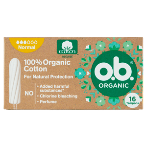O.B. Organické tampony 16 ks