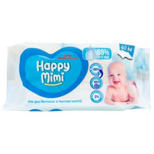 Happy Mimi Dětské vlhčené ubrousky 99% vody, 60ks