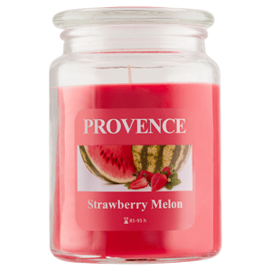 Provence Svíčka ve skle s víčkem 510g, jahoda+meloun