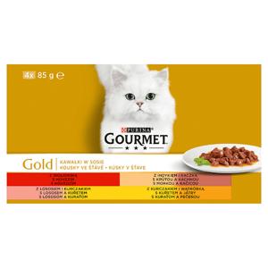 GOURMET Gold Multipack kousky ve šťávě 4 x 85g
