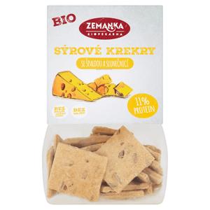 Biopekárna Zemanka Bio krekry se sýrem a slunečnicí 100g