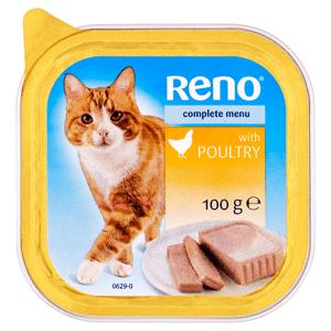 Reno Kompletní krmivo pro dospělé kočky s drůbežím 100g