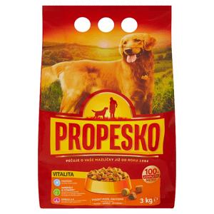Propesko Vitalita s drůbežím, hovězím a zeleninou kompletní krmivo pro dospělé psy 3kg