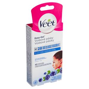 Veet Easy-Gel Voskové pásky na obličej pro citlivou pokožku 40 ks