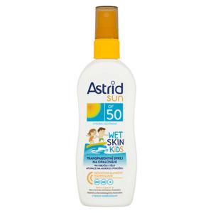 Astrid Sun Wet Skin dětský transparentní sprej na opalování OF 50 150ml