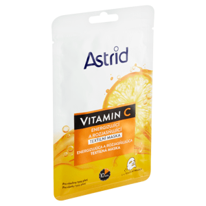 Astrid Vitamin C energizující a rozjasňující textilní maska 1 ks 20ml