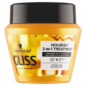 Gliss vyživující maska 2v1 Oil Nutritive pro hrubé, roztřepené vlasy 300ml