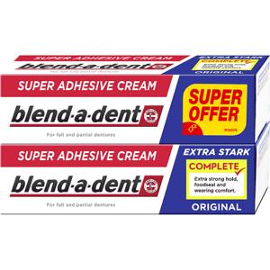 Blend-a-dent Complete Fixační Krém Na Zubní Náhradu 2 x 47 g, Original