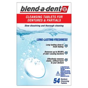 Blend-A-Dent Long Lasting Freshness Přípravek Na Čištění Zubní Náhrady, Balení 54 ks