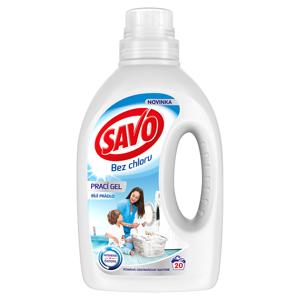 Savo Bez chlóru White prací gel na bílé prádlo 20 praní
