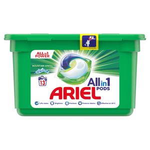 Ariel All-In-1 PODs Mountain Spring Kapsle Na Praní, 13 Praní