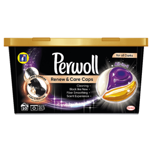 Perwoll Renew & Care Caps Black, 10 praní