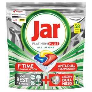 Jar Platinum Plus Lemon Kapsle Do Automatické Myčky Nádobí, 58 ks