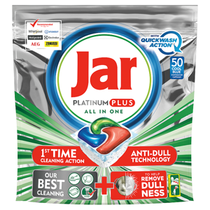 Jar Platinum Plus Regular Kapsle Do Automatické Myčky Nádobí, 50 ks