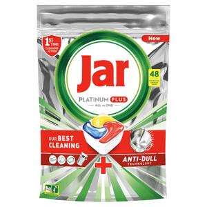 Jar Platinum Plus Kapsle Do Automatické Myčky Nádobí Vše V Jednom Lemon, 48 Ks