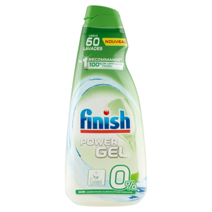 Finish Power Gel 0 % gel do myčky nádobí 900ml