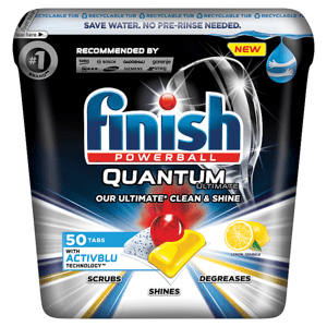 Finish Quantum Ultimate Lemon Sparkle kapsle do myčky nádobí 50 ks 625g