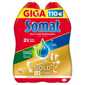 Somat Gold Grease Cutting gel do automatické myčky na nádobí 2 x 990ml