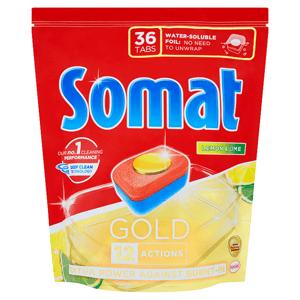 Somat Gold Lemon & Lime tablety do myčky na nádobí 36 tablet 691,2g