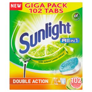 Sunlight All in 1 Citrus Fresh Tablety do myčky nádobí 102 ks 1785g