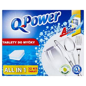 Q-Power All in 1 tablety do myčky 32 ks