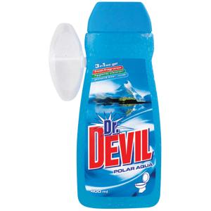 Dr.Devil WC gel s košíčkem 400ml 3in1 Aqua