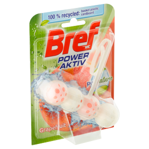 Bref Power Aktiv ProNature Grapefruit tuhý WC blok 50g