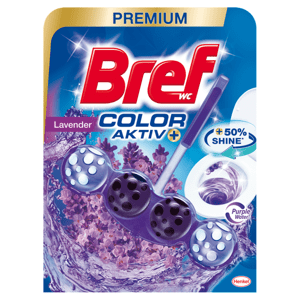 Bref Color Aktiv Lavender tuhý WC blok 50g