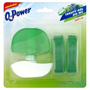 Q-Power Tekutý gel do WC jablko 3 x 55ml