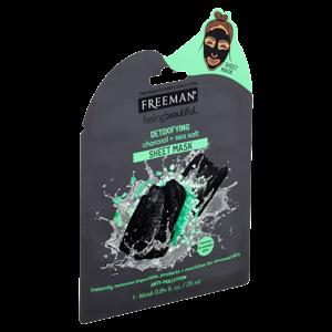 Freeman Látková detoxikační maska aktivní uhlí-mořská sůl 25ml