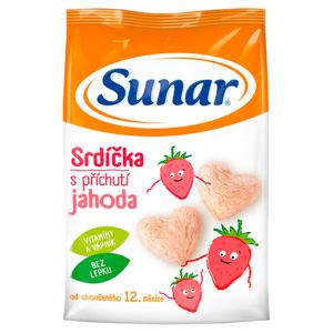 Sunar Srdíčka s příchutí jahoda od ukončeného 12. měsíce 50g