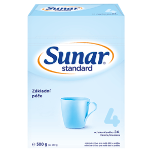 Sunar Standard 4 batolecí mléko 2 x 250g (500g)