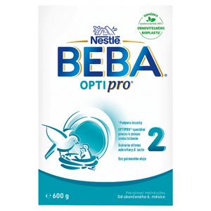 BEBA OPTIPRO® 2, instantní pokračovací mléčná kojenecká výživa, krabice 2 x 300g (600g)
